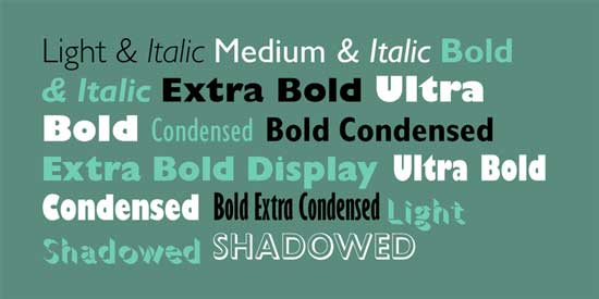 Sans Serif Fonts 10 Best Commercial Sans-Serif Typefaces