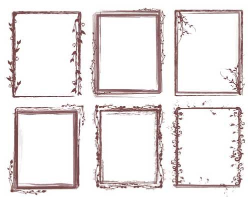 Photoshop Frames Brushes 25 Grungy Borders for Your Photos