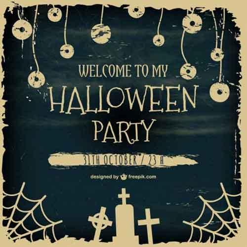 Halloween Poster Templates 25 Editable Vector Files to Collect
