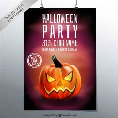 Halloween Poster Templates 25 Editable Vector Files to Collect - editable poster templates