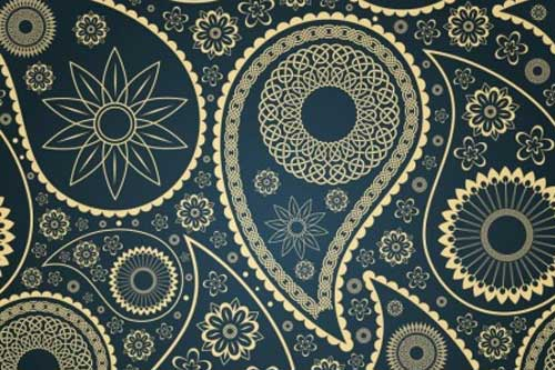 Paisley Patterns Great as Backgrounds for Your Designs