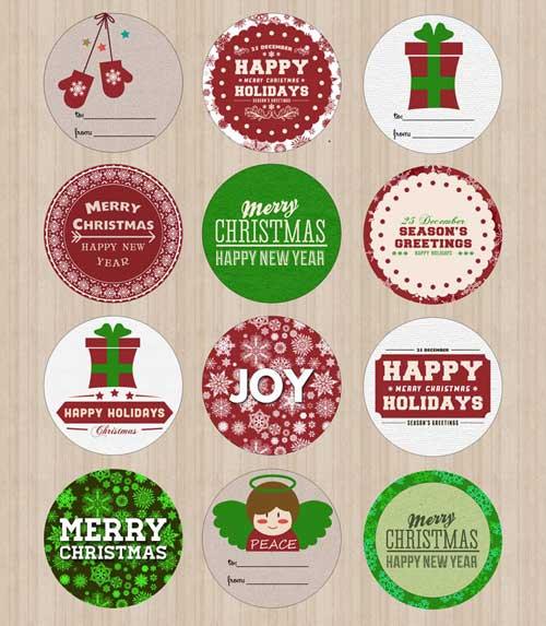 Free Printable Christmas Cards and Gift Tags in Red - free printable merry christmas cards
