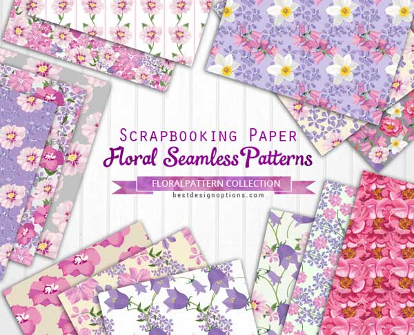 Floral Backgrounds 160+ Free Digital Papers to Collect