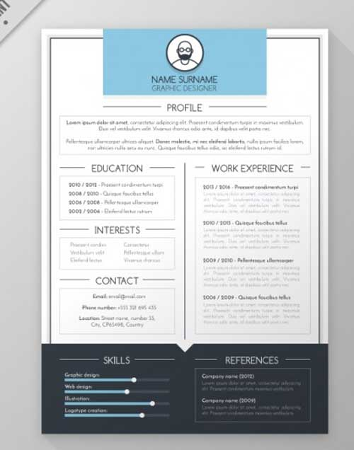 Resume Template Designs You Can Download and Edit for Free - resume template designs