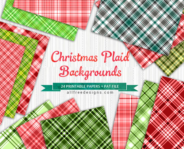Christmas Plaid Patterns 24 Red and Green Patterns for Holiday Designs