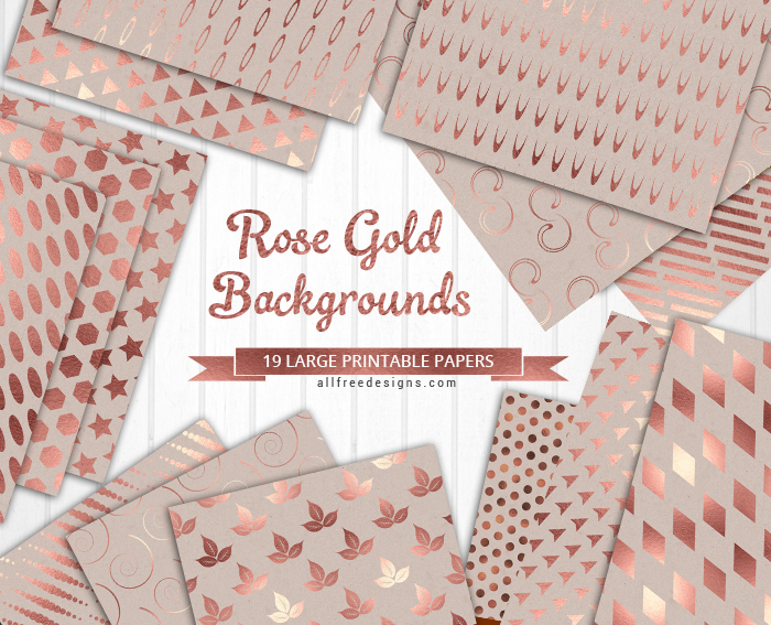 Rose Gold Background Textures 19 Printable Papers in JPEG Format