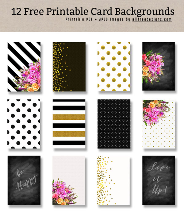 Printable Card Backgrounds for Making Custom Greeting Cards