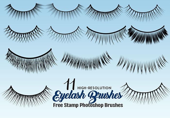 Eyelash Photoshop Brushes 11 Styles for Photo Enhancements