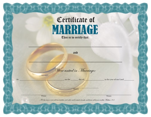 Certificate of Marriage - Free Printable - AllFreePrintable - certificates free download free printable