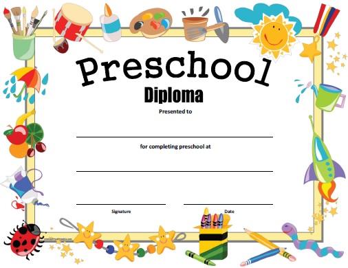 Preschool Diploma - Free Printable - AllFreePrintable