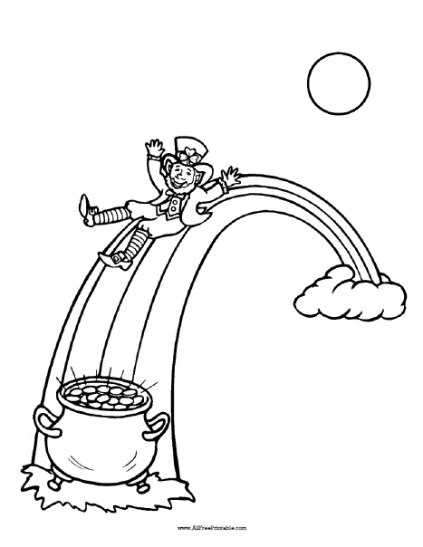 St Patrick\u0027s Day Coloring Page - Free Printable - AllFreePrintable