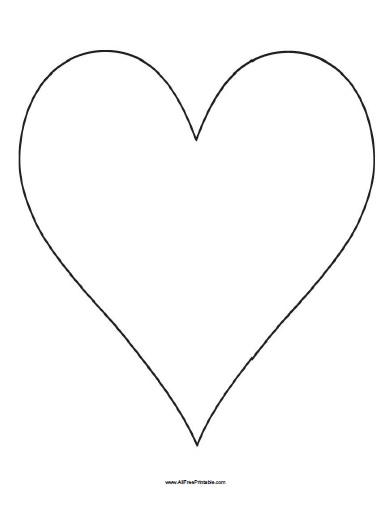 Big Heart Template - Free Printable - AllFreePrintable