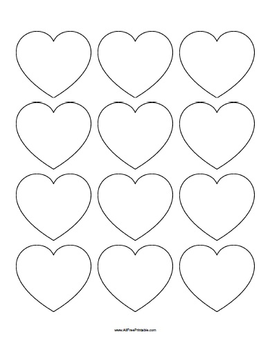 Small Hearts Templates - Free Printable - AllFreePrintable