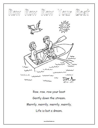Row Row Row Your Boat - Free Printable - AllFreePrintable