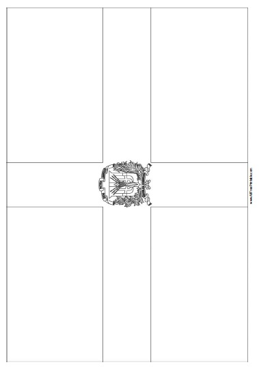 Dominican Republic Flag Coloring Page - Free Printable
