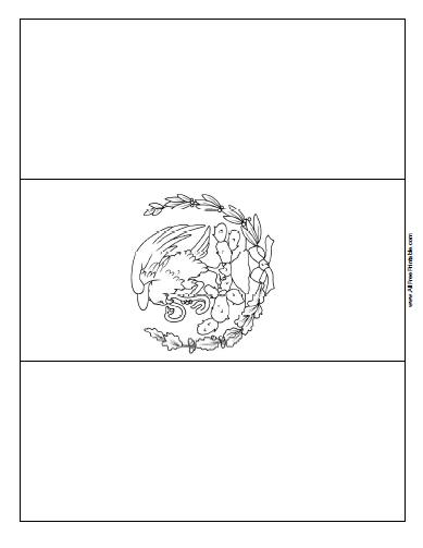 Mexico Flag Coloring Page - Free Printable - AllFreePrintable