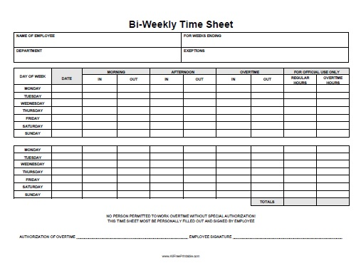 timesheet with lunch - muapet - bi weekly timecard with lunch