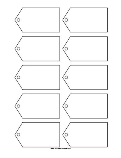 Blank Gift Tags Template - Free Printable - AllFreePrintable
