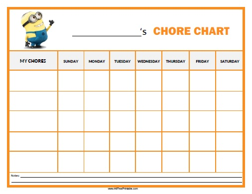 chores chart template free printable - Selol-ink