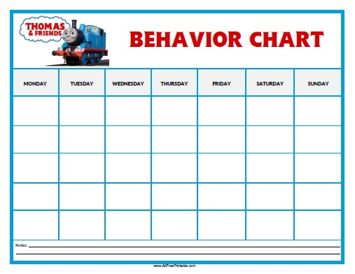 Thomas Tank Engine Behavior Chart - Free Printable - printable behavior chart