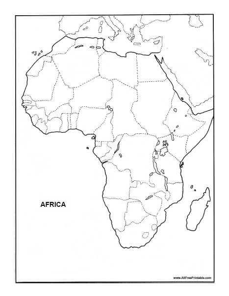Africa Blank Map - Free Printable - AllFreePrintable