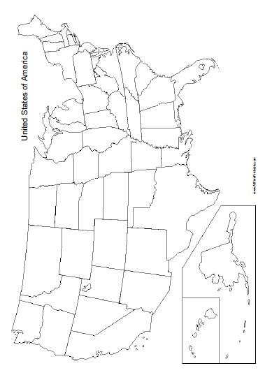 us map template printable - Josemulinohouse - fillable us map