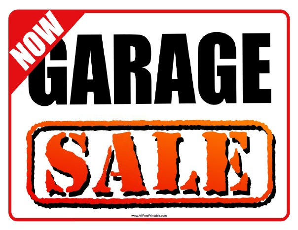 Garage Sale Sign - Free Printable - AllFreePrintable