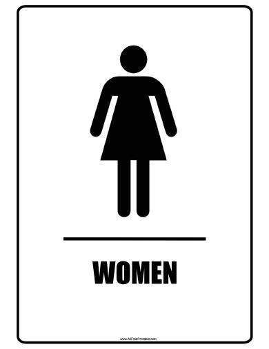 Women Bathroom Signs - Free Printable - AllFreePrintable