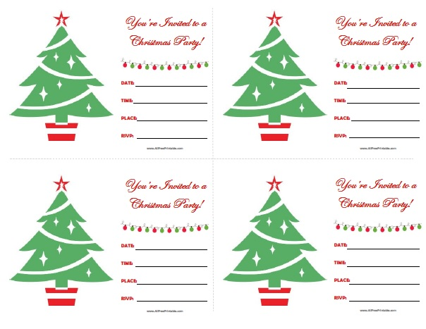 free printable christmas party invitations - Onwebioinnovate - holiday party invitations free