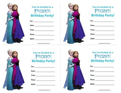 Frozen Birthday Invitations - Free Printable - AllFreePrintable