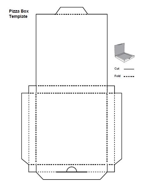 Pizza Box Template - Free Printable - AllFreePrintable
