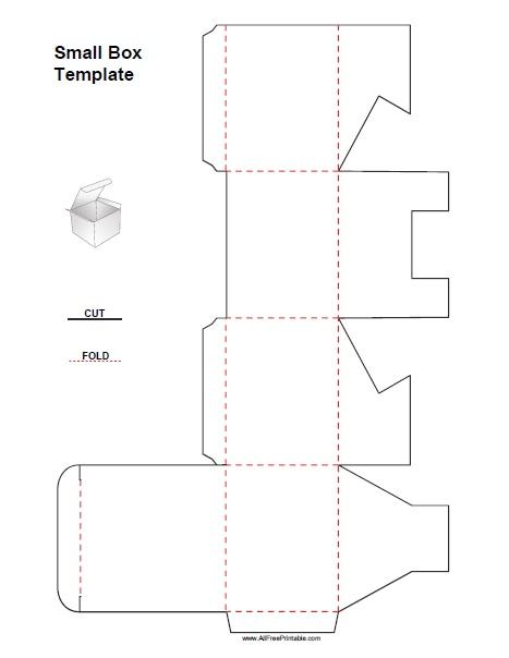 Small Box Template - Free Printable - AllFreePrintable