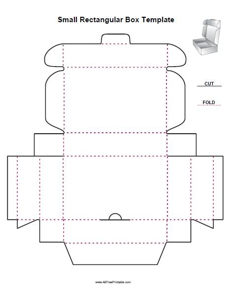 Small Rectangular Box Template - Free Printable - AllFreePrintable