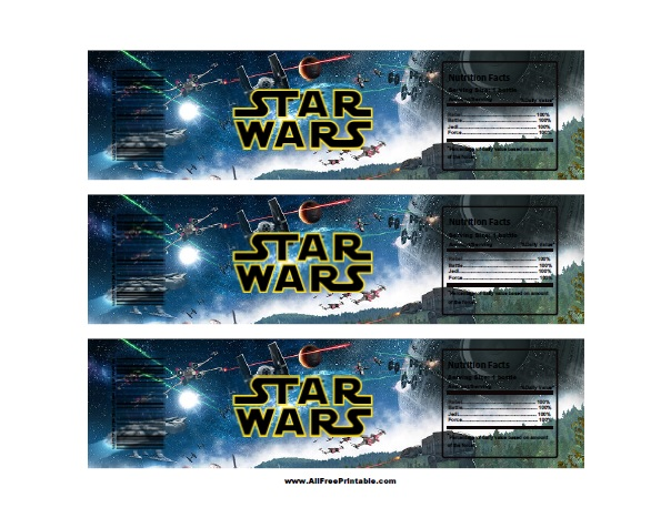 Star Wars Water Bottle Labels - Free Printable - AllFreePrintable