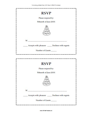 Wedding Response Cards - Free Printable - AllFreePrintable - free printable wedding rsvp cards