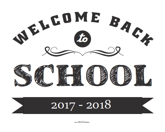 Welcome Back to School Sign - Free Printable - AllFreePrintable - free printable welcome back sign