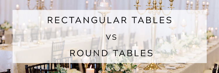 Rectangular Tables vs Round Tables East Lansing Michigan Floral +