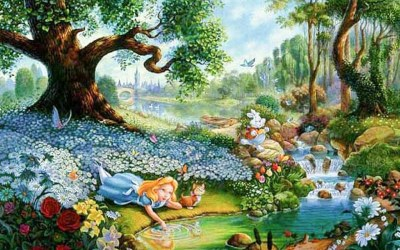 Alice In Wonderland Cartoon HD Desktop Backgrounds - All HD Wallpapers