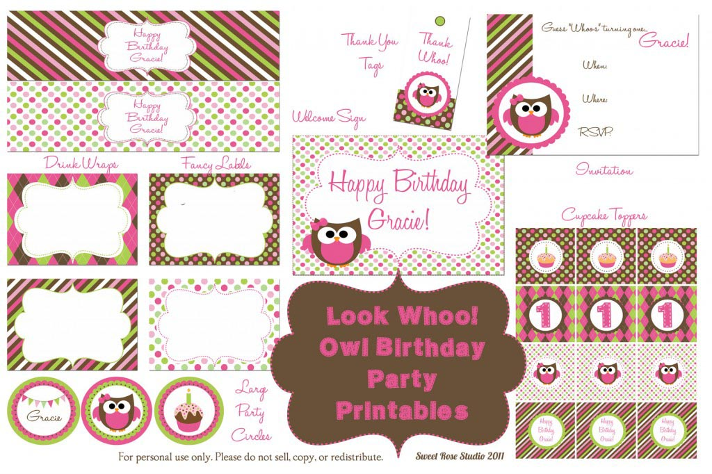 Free Printable Birthday Party Planner Home Party Ideas