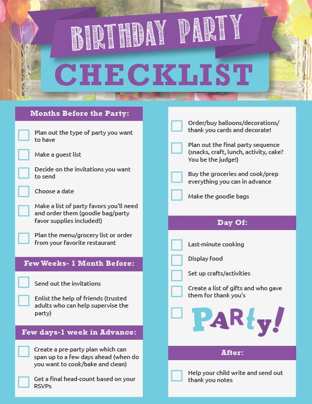 Planning A 50th Birthday Party Checklist Home Party Ideas