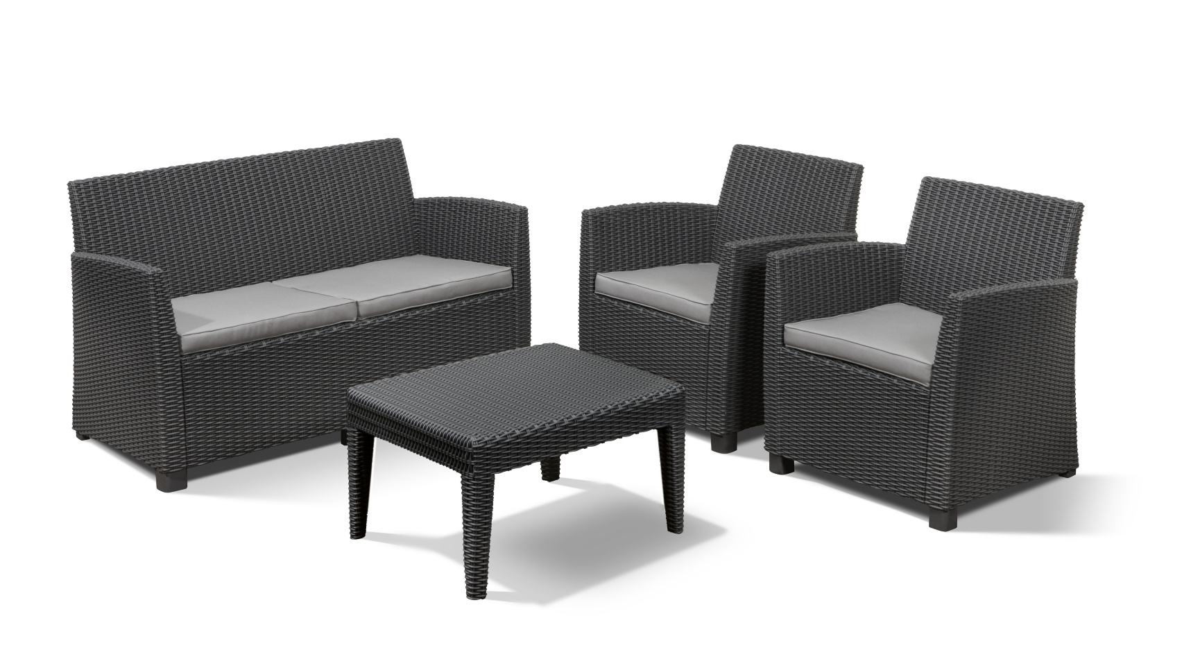 Salon Allibert Allibert Corona Lounge Set Graphite Allibert
