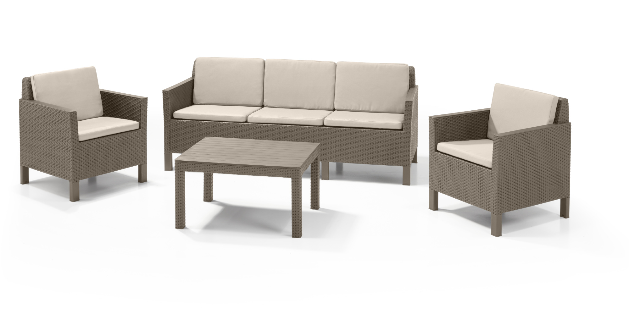 Lounge Sofa Allibert Amazing View Chicago Lounge Set Cappuccino Three Seater