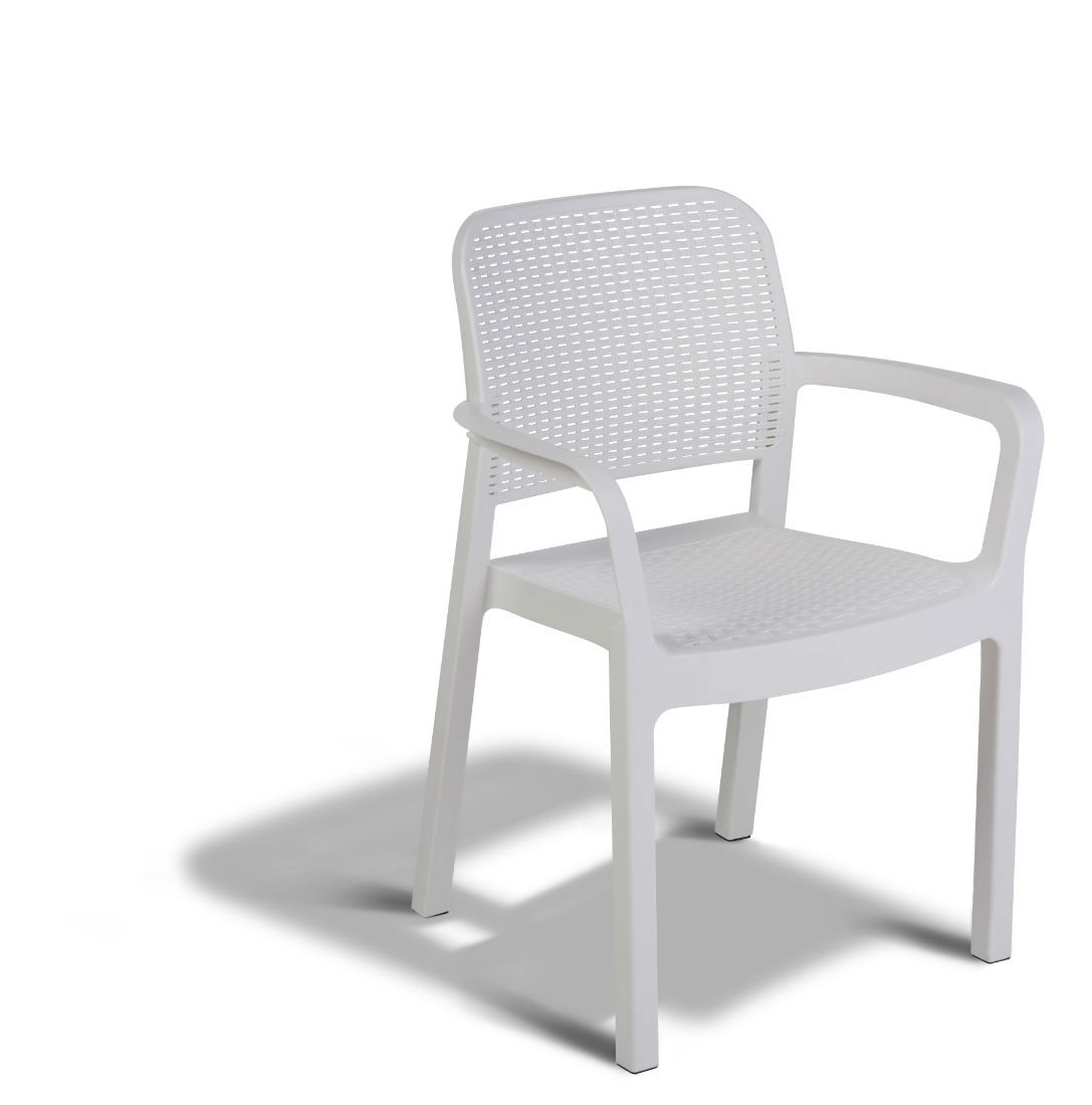 Salon De Jardin Belgique Vente Allibert Samanna Chaise Empilable Blanche - Allibert