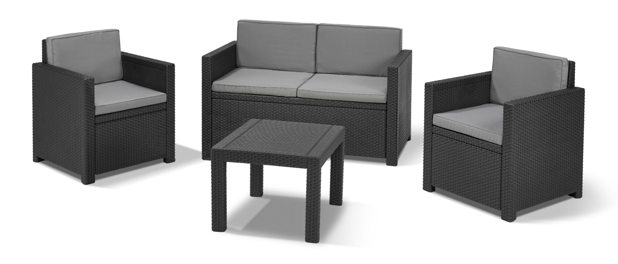 Allibert Salon De Jardin Allibert Victoria Lounge Set Graphite - Allibert