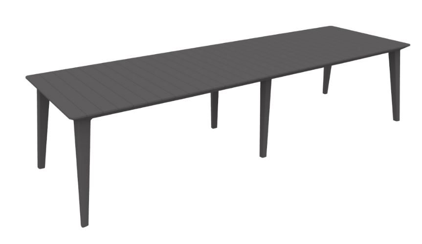 Table De Jardin Allibert Allibert Lima 320 Table De Jardin Graphite - Allibert