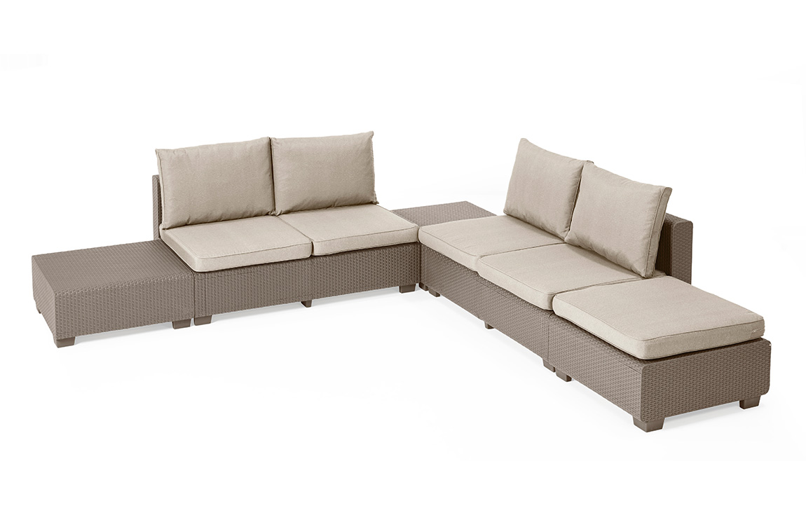 Balkonmöbel Lounge-set Merano Loungeset Lounge Sets Allibert