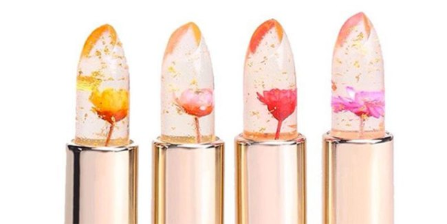 A mood ring for your lips? Well not quite but this jelly floral lipstick from Kailijumei does change shades depending on your body temperature.
