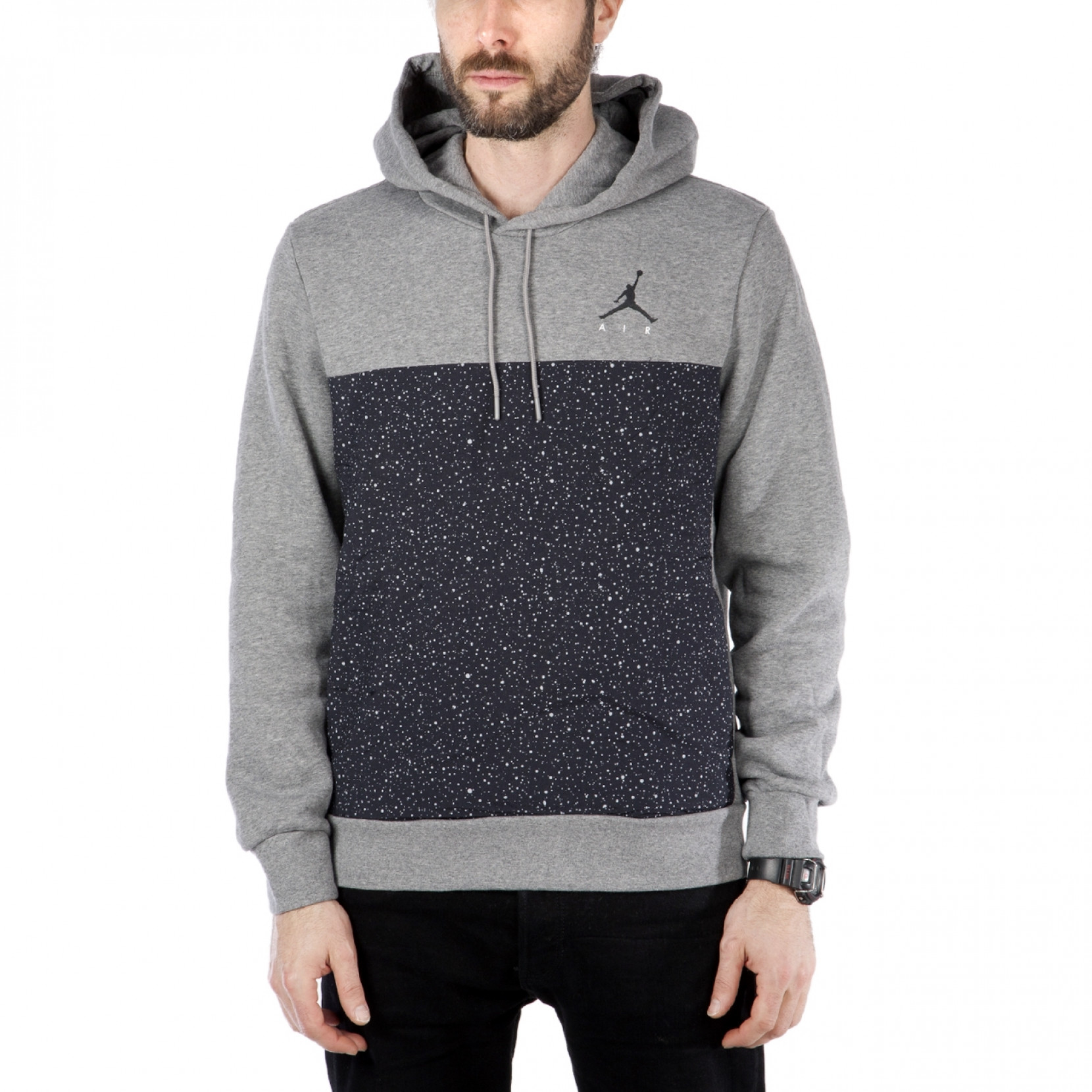 Nike Hoodie Carbon Heather Nike Air Jordan Flight Fleece Cement Hoodie Carbon Heather