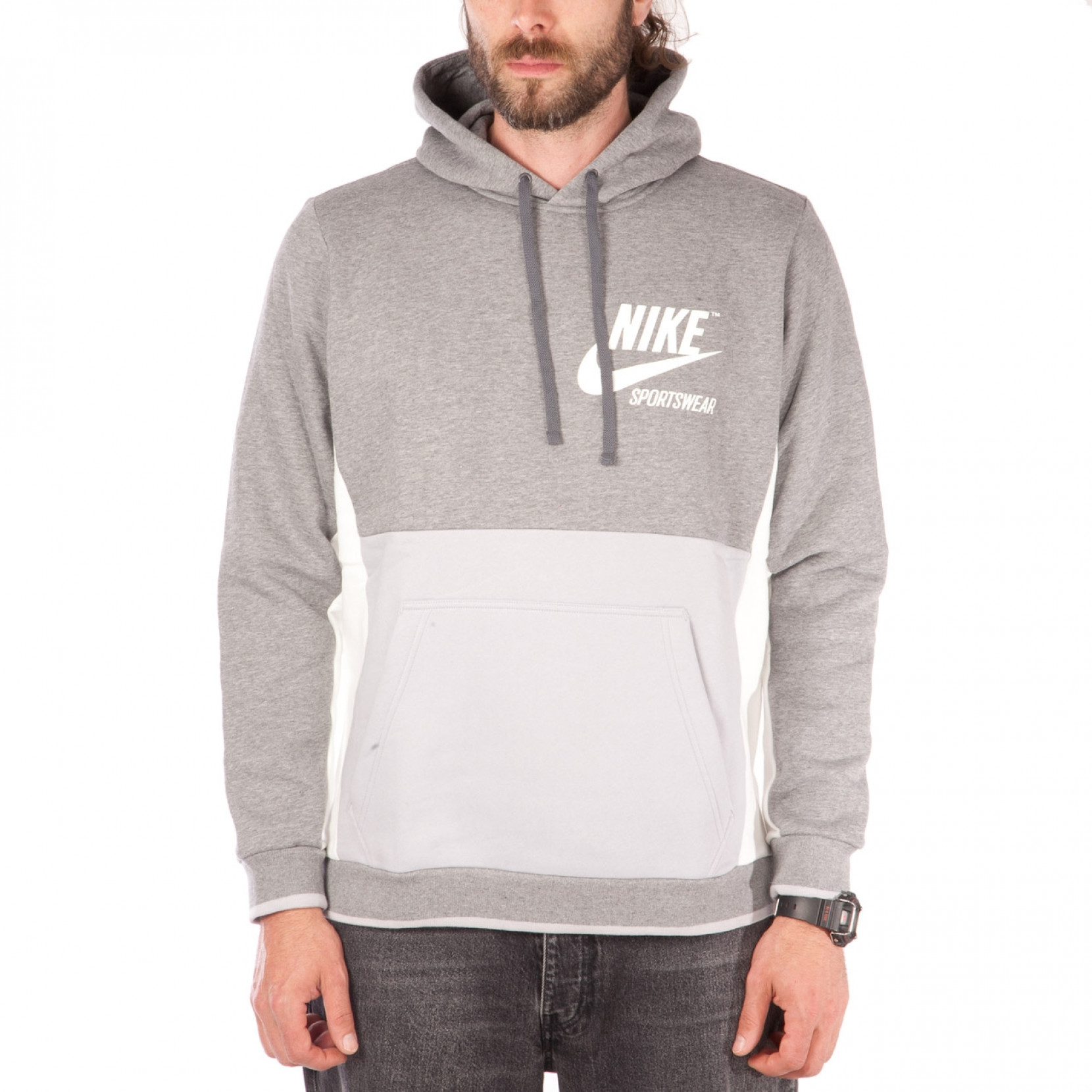 Nike Hoodie Carbon Heather Nike Sportswear Archive Hoodie Carbon Heather Sail