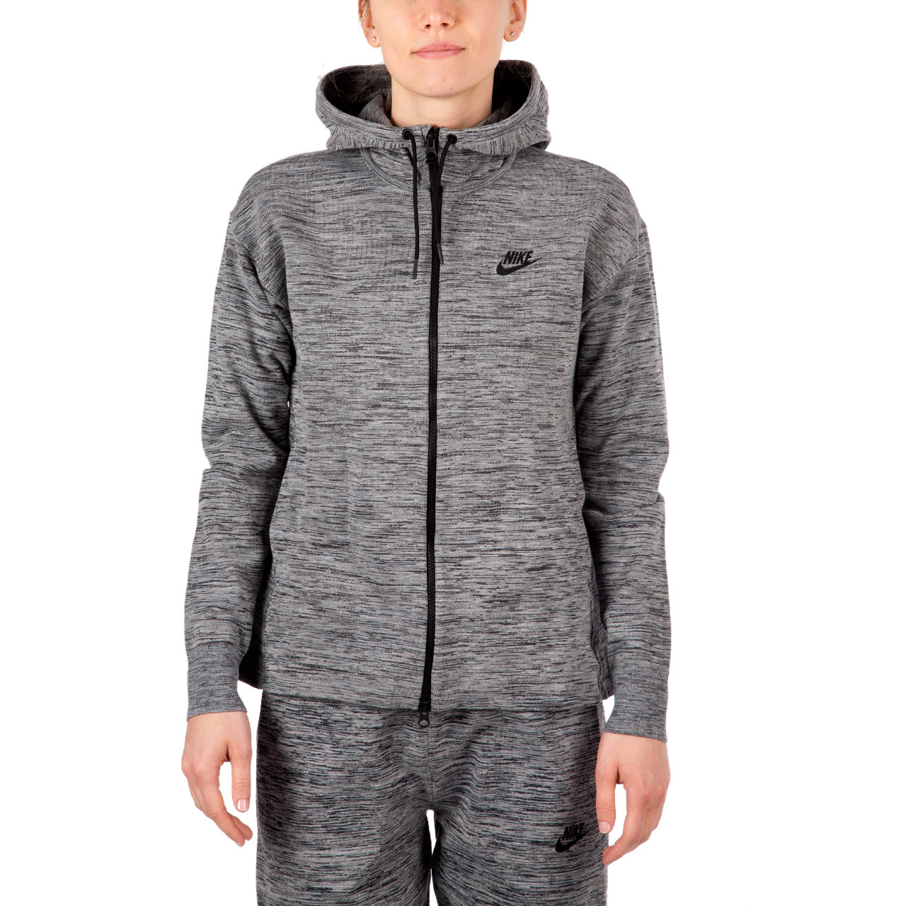 Nike Hoodie Carbon Heather Nike Wmns Tech Knit Jacket Hd Carbon Heather